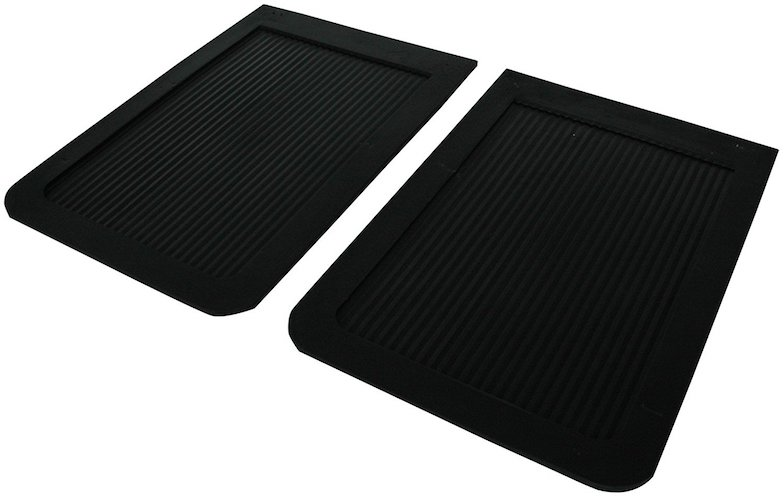 2. Highland 1007100 Black Heavy Duty Rubber Splash Guard - 2 Piece