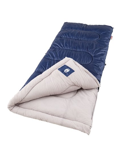 3. Coleman Brazos Cool Weather Sleeping Bag