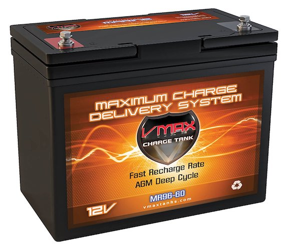 8. VMAX MR96-60 AGM 12V 60AH AGM Battery Deep Cycle High Performance Battery for 24-50lb thrust Minn Kota, Cobra, Sevylor and other electric trolling motors