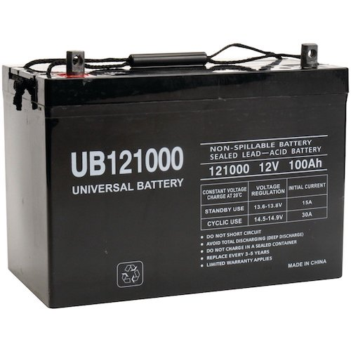 3. Universal Power Group 45978 Sealed Lead Acid Battery