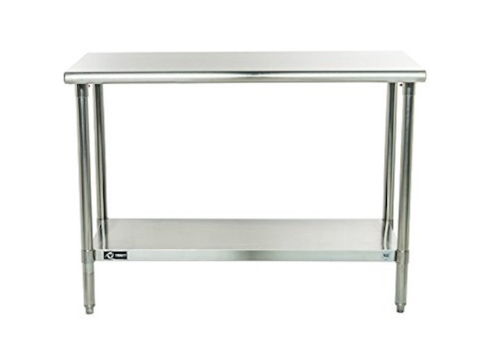 1. TRINITY EcoStorage NSF Stainless Steel Table, 48-Inch