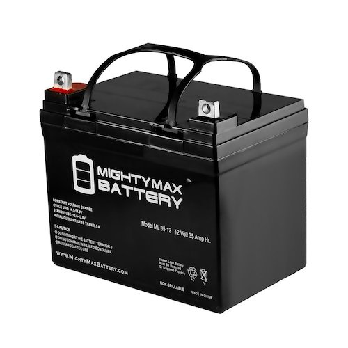 1. ML35-12 - 12V 35AH U1 Deep Cycle AGM Solar Battery Replaces 33Ah, 34Ah, 36Ah - Mighty Max Battery brand product