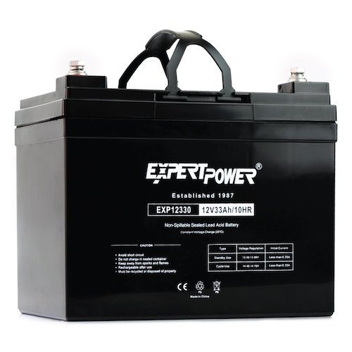 10. ExpertPower 12v 33ah Rechargeable Deep Cycle Battery [EXP12330] Replaces 34Ah, 35Ah, 36Ah