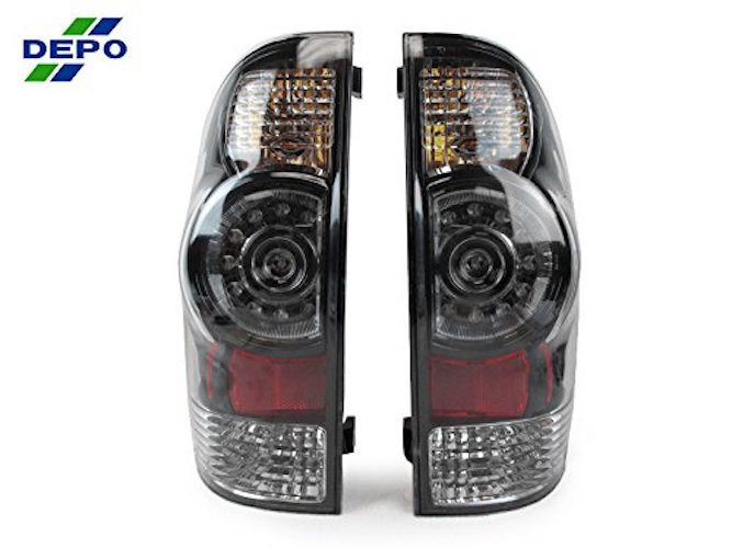 10. DEPO 2005-2014 Toyota Tacoma Facelift Style SMOKE LED Tail Light Set