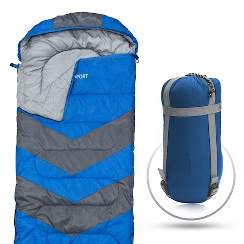 1. Sleeping Bag – Envelope Lightweight Portable, Waterproof, Comfort With Compression Sack - Great For 4 Season Traveling, Camping, Hiking, Outdoor Activities & Boys. (SINGLE) By Abco Tech