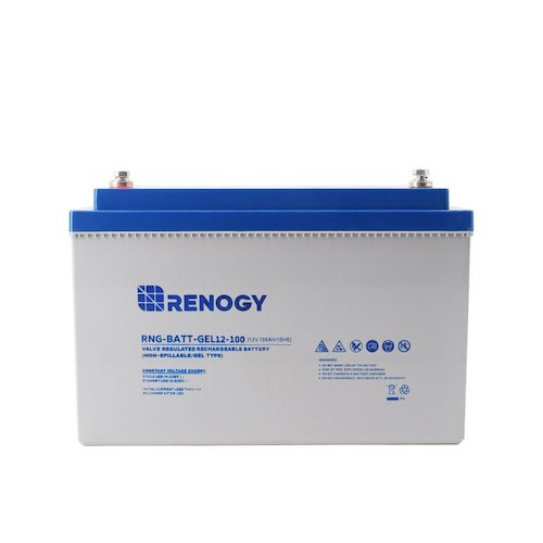 6. Renogy RNG-BATT-GEL12-100 Deep Cycle Pure Gel Battery 12V 100Ah