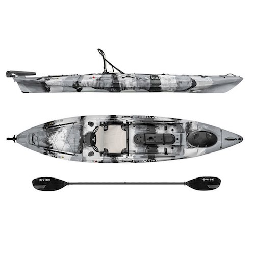 5. Vibe Kayaks Sea Ghost 130 13-foot Angler Sit On Top Fishing Kayak