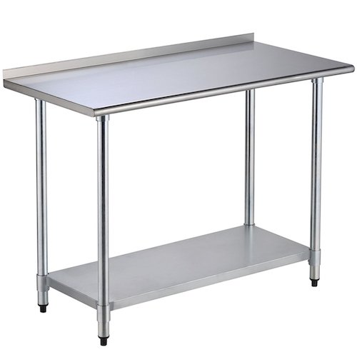 Top 10 Best Stainless Steel Work Tables with Shelves in 2020 Reviews