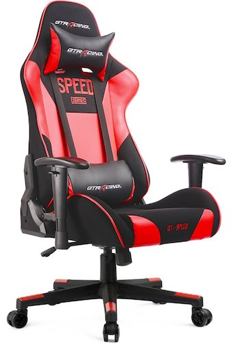 9. GTracing High Back Gaming Chair Fabric And PU Racing Chair Backrest And Height Adjustable E-sports Chair Ergonomic Computer Office Chair Furniture