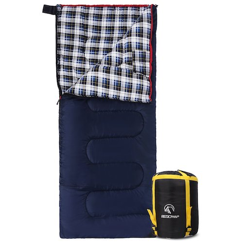 9. REDCAMP Cotton Flannel Sleeping bags for Camping
