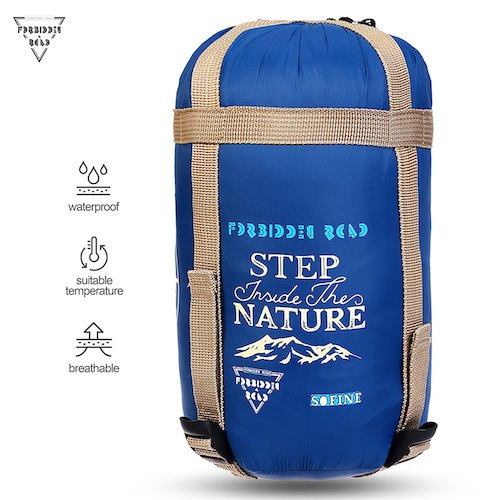 7. Forbidden Road 380T Nylon Portable Sleeping Bag