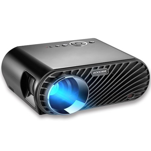 1. GooDee Portable Movie Projector 1280x800 Resolution LCD Max 180