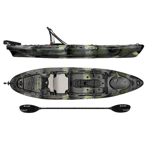 3. Vibe Kayaks Sea Ghost 110 11-foot Angler Sit on Top Fishing Kayak