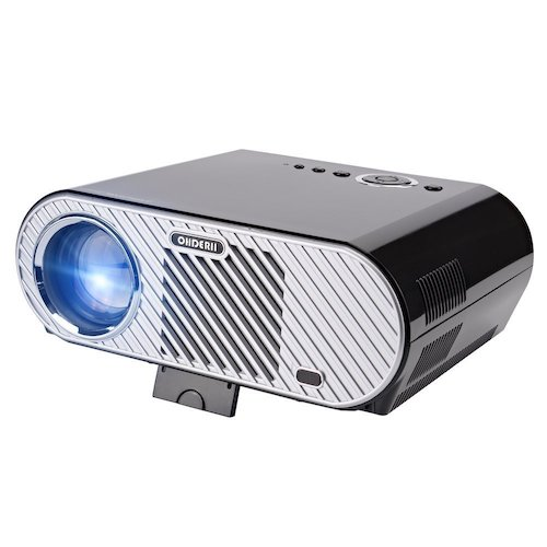 2. Ohderii Projector, Christmas Projector 3200ANSI Luminous Efficiency Multimedia Home Theater Projectors 1280 800 Native Resolution Support 1080P HD-ideal for Outdoor Indoor Movie Night