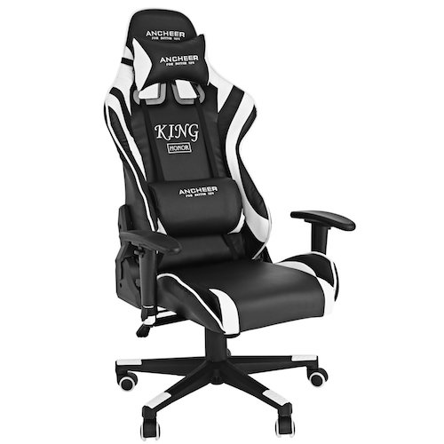 6. Homdox Racing Gaming Chair, High Back Swivel Leather Executive Office Chair with Lumbar Support and Headrest