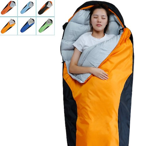 4. Camping Sleeping Bag-Envelope Mummy Outdoor Lightweight Portable Waterproof Perfect for 0 degree Traveling,Hiking Activities