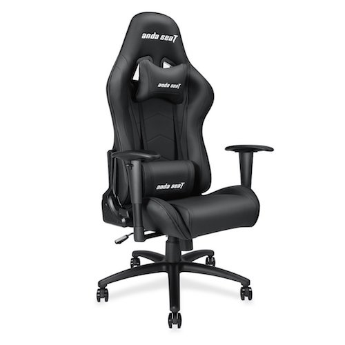 9. Andaseat Big and Tall Gaming Chair, High Back Computer Office Chair, Large Size Swivel Rocker Tilt E-sports Racing Chair, Backrest and Seat Height Adjustable with Lumbar Support and Headrest