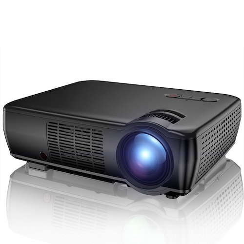 5. Projector, TENKER 2400 Lumens Portable Video Projector Mini Home Theater LCD Projector Support 1080p HDMI VGA USB AV for Outdoor & Indoor Movie Nights, Video Games