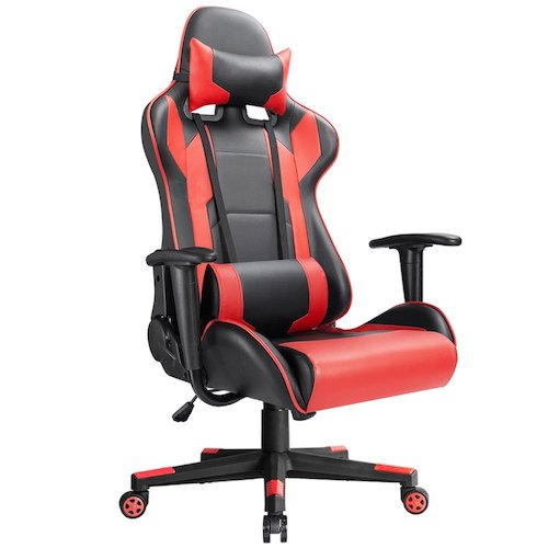 4. Devoko Ergonomic Gaming Chair Racing Style Adjustable Height High-back PC Computer Chair With Headrest and Lumbar Massage Support Executive Office Chair