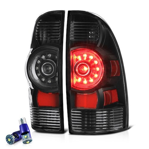 6. [Cree LED Reverse Bulbs] - VIPMotoZ 2005-2015 Toyota Tacoma Tail Lights - [Factory Style] - Matte Black Housing, Driver and Passenger Side