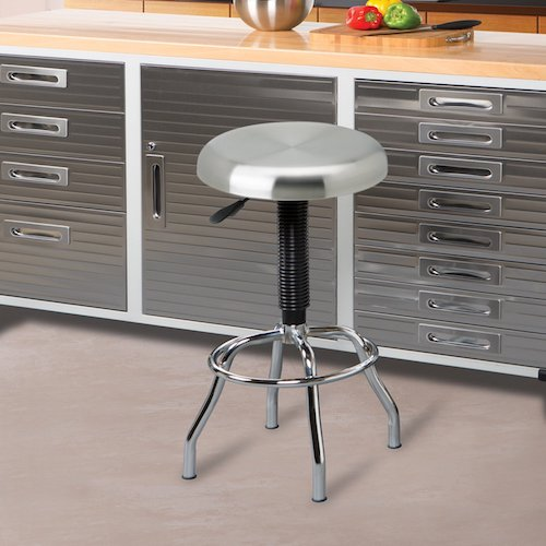 7. Seville Classics Stainless Steel Top Work Stool