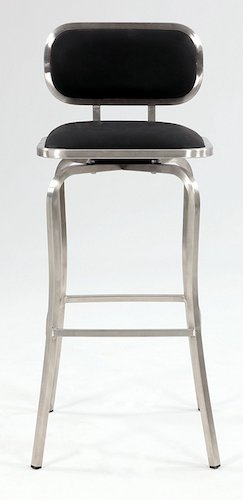 10. Chintaly Imports Modern Swivel Bar Stool