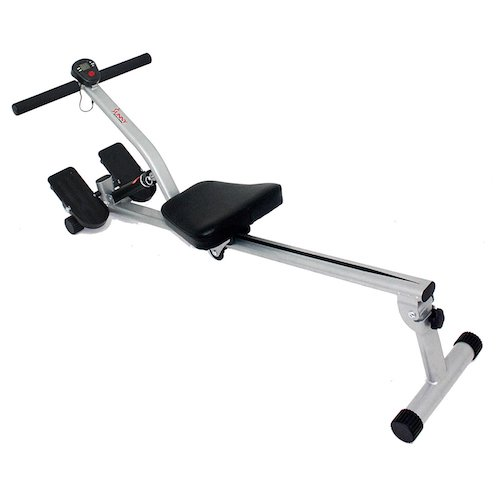 5. Sunny Health & Fitness SF-RW1205 12 Adjustable Resistance Rowing Machine Rower w/ Digital Monitor