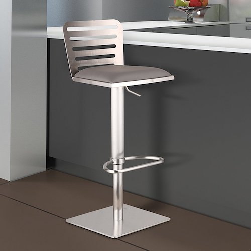 9. Armen Living LCDESWBAGRB201 Delmar Adjustable Barstool