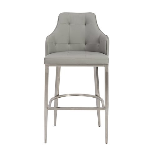 6. Euro Style Aaron Soft Leatherette Bar Height Stool