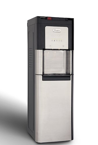 Best Bottom Load Self-Cleaning Water Dispensers: 1. Whirlpool Self Cleaning, Hot and Cold, Stainless Bottom Load Water Cooler with LED Indicators