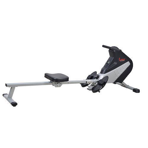 8. Sunny Health & Fitness SF-RW5634 Magnetic Rowing Machine Rower w/ LCD Monitor