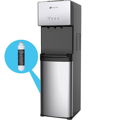 Best Bottom Load Self-Cleaning Water Dispensers: 4. Avalon Commercial Grade Self Cleaning Bottleless Water Cooler Dispenser-3 Temperature Settings Hot, Cold & Room Water, Durable Stainless Steel Construction, - UL/Energy Star Approved