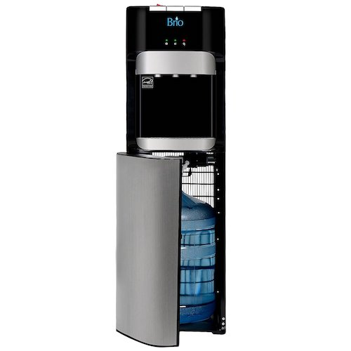 Best Bottom Load Self-Cleaning Water Dispensers:8. Brio Essential Series Bottom Load Hot, Cold & Room Water Cooler Dispenser - 3 Temperature Modes for Home or Office - UL / Energy Star Approved.
