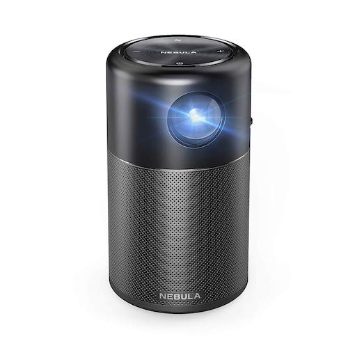 10. Nebula Capsule Smart Mini Projector, by Anker, Portable 100 ANSI lm High-Contrast Pocket Cinema with Wi-Fi, DLP, 360° Speaker, 100
