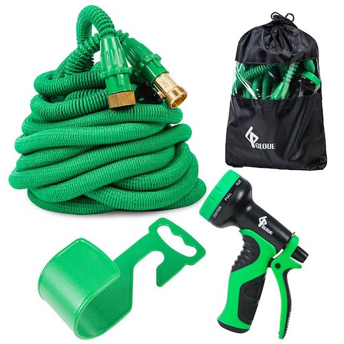 4. Garden Hose Expandable Water Hose Set Double Latex Core, 3/4
