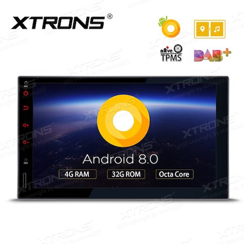 7. XTRONS 7 Inch Android 8.0 Octa Core 4G RAM 32G ROM HD Digital Multi-touch Screen Car Stereo GPS Radio OBD2 TPMS Double 2 Din