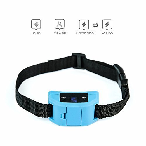 Dog Bark Collars: 3. Hecmoks Anti Bark Collar for Small, Medium, Large Dogs - Dog Bark Shock Collar Device to Stop,Control Barking w/Humane 2018 Newest Automatic ULTRASONIC TECH for 5-15 lbs Breeds