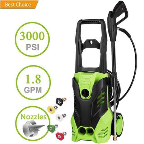 9. Binxin 2030 PSI Electric Pressure Washer 1.76GPM w/Power Hose Nozzle Gun and 5 Quick-Connect Spray Tips