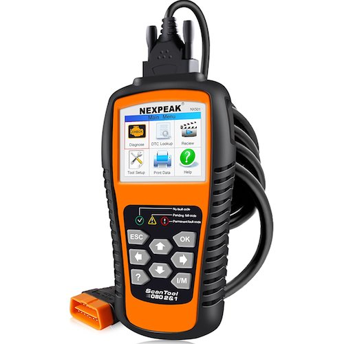 3. NEXPEAK OBDII Car Diagnostic Scanner, NX501 Universal Car Code Reader Vehicle Diagnostic Tool, Auto Check Engine Light Scan Tool Works on Most of OBD2 Protocols Car since 1996