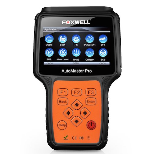 10. FOXWELL Professional Car Diagnostic Tool Obd2 Scanner Oil Reset, EPB, BRT, DPF, SRS, ABS, SAS and TBA Automotive Full-System Scan Tool with Full OBDI Connectors Kit