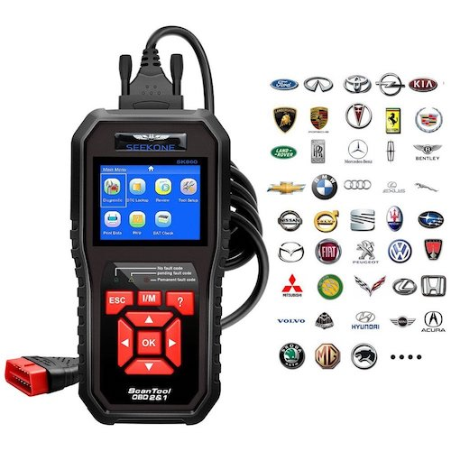 1. OBD2 Scanner, Seekone Professional Car Auto Diagnostic Code Reader OBDII & CAN Vehicle Engine O2 Sensor Systems EOBD Scanners Tool for all OBDII Protocol Cars Since 1996(Upgraded SR860)