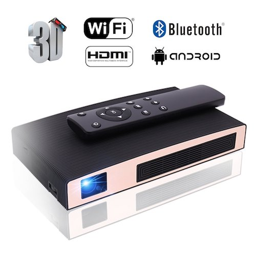 9. Projectors, MOTOU DLP Portable Video LED Projector HD Supports 3D / HDMI / Bluetooth / USB / WIFI / 1080P/iPhone /Android, Rechargeable Multimedia outdoor Pico Projector for Game /Office /Party/Out