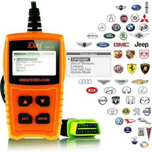9. JDiag OM123 Professional Car Vehicle Diagnostic OBDII Code Reader Scanner Scan Tool Check Engine Light Read Clear Trouble Codes for all Cars Vehicles Automotive (Orange-OM123)
