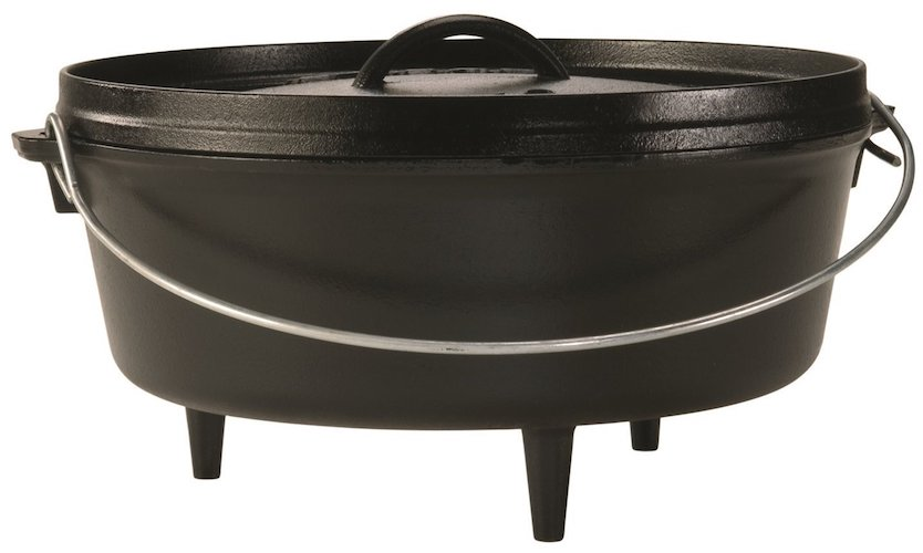 1. Lodge 17L12CO3 Cast Iron Camp Dutch Oven, 6 quart