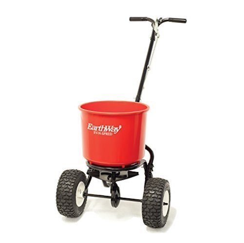5. Earthway 2600APlus Unassembled 40lb. Spreader, Garden Seeder, Salt Spreader w/9-Inch Pneumatic Wheels