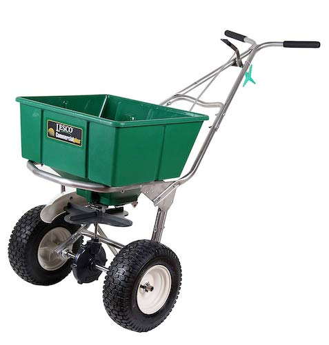 8. Lesco High Wheel Fertilizer Spreader with Manual Deflector - 101186 - Replaces 091186