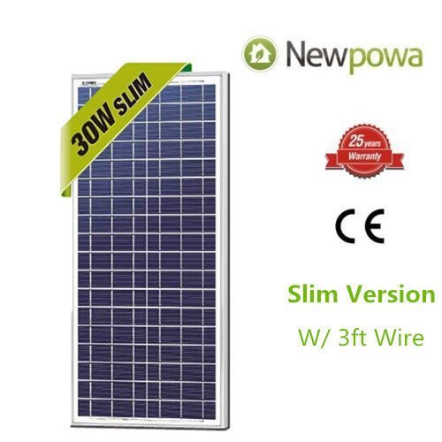 7. Newpowa 30w Watts 12v Poly Solar Panel Module Rv Marine Boat Off Grid