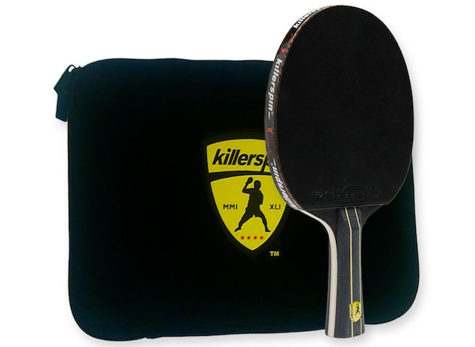 7. Killerspin JetBlack Combo: Table Tennis Paddle Engineered for Ultimate Control and Precision with Functionaly and Structuraly Designed Bat Case
