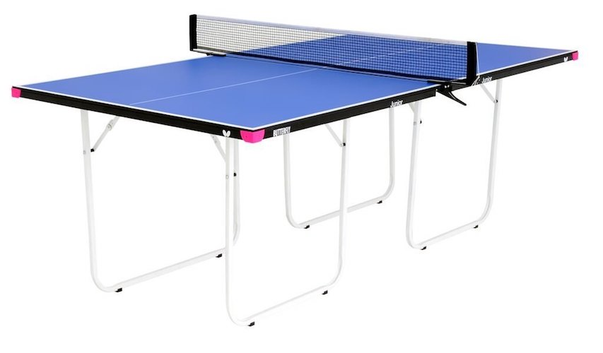 4. Butterfly Junior ¾ Size Table Tennis Table - 3 Year Warranty – Foldable with Wheels – Fully Assembled – Miniature Ping Pong Table