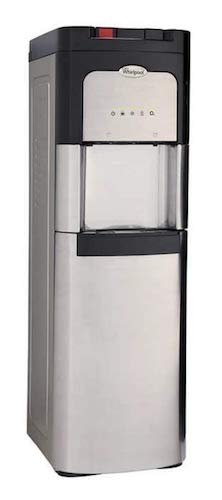 2. Whirlpool Self Cleaning, Hot, and Cold, Stainless Bottom Load Water Cooler with LED Indicators